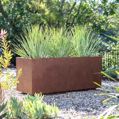 Corten Steel Series Long Box Planter