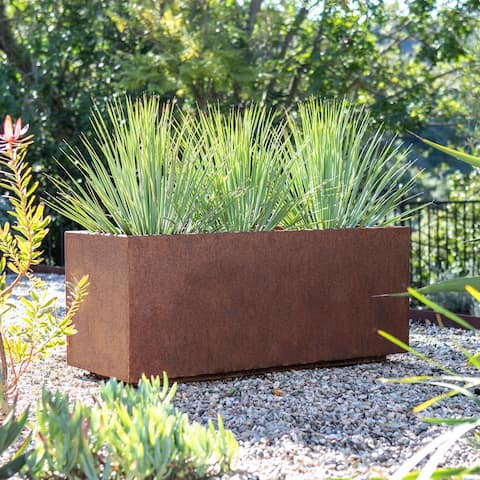 Corten Steel Series Long Box Planter