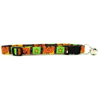 Pumpkin Squares Cat Collar