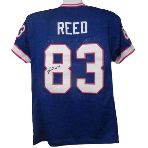 on sale 9758d dd1de Andre Reed Autographed Buffalo Bills Blue XL Jersey HOF JSA