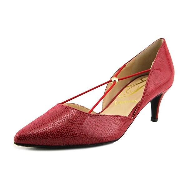 J. Renee Veeva Women W Pointed Toe Synthetic Red Heels
