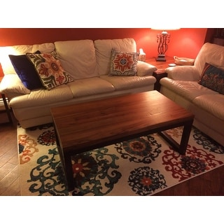 reclaimed wood and metal long coffee table - free shipping today