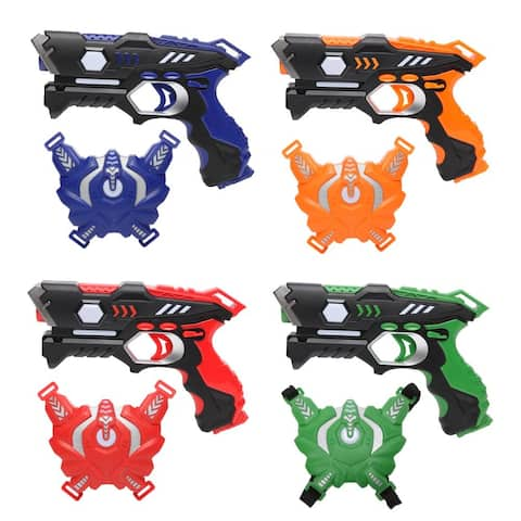 Leadzm Laser Tag Sets of 4 Multiplayer Infrared Blaster Tag Toy Guns