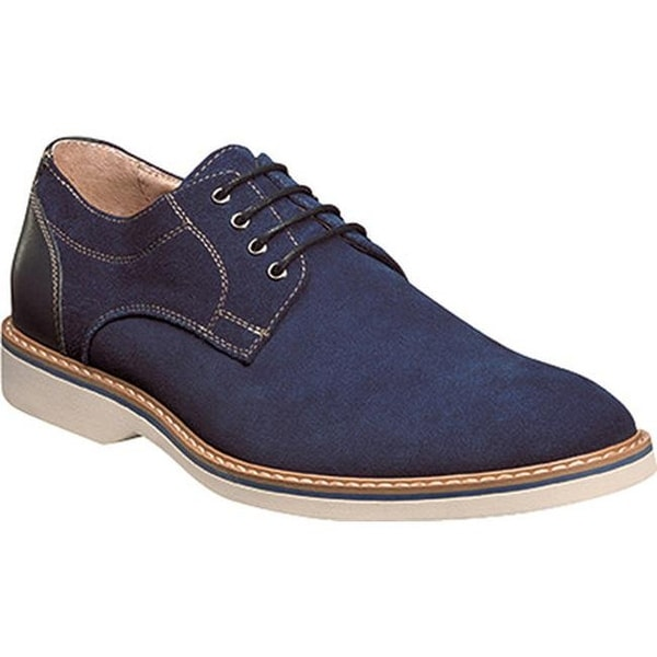 0d12339464a Shop Florsheim Men s Union Plain Toe Oxford Blue Full Grain Leather Suede -  Free Shipping Today - Overstock - 14047401