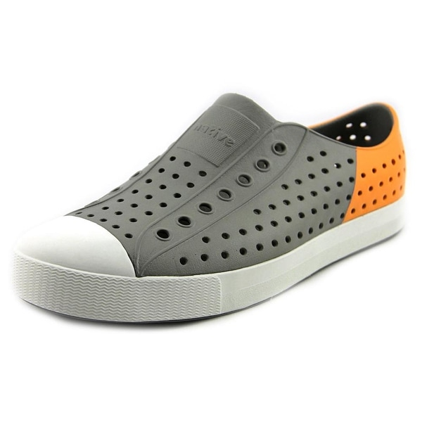 Native Jefferson Men Round Toe Synthetic Gray Sneakers