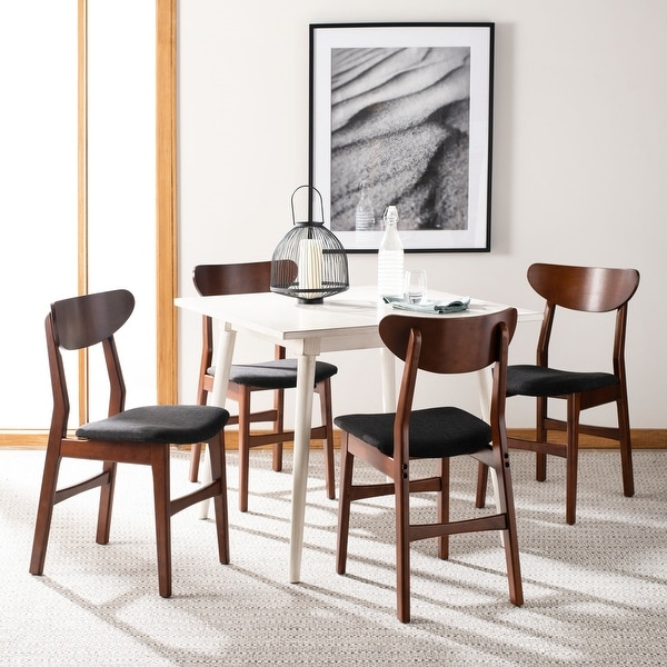 """Safavieh Lucca Retro Dining Chair (Set of 2) - 17.3"""" x 20.8"""" x 33.1"""" - 17.3"""" x 20.8"""" x 33.1"""". Opens flyout."""