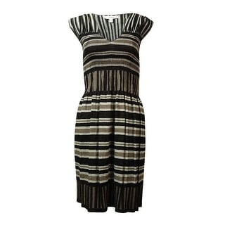 Studio M Women's Striped Woven Christine Smock Dress