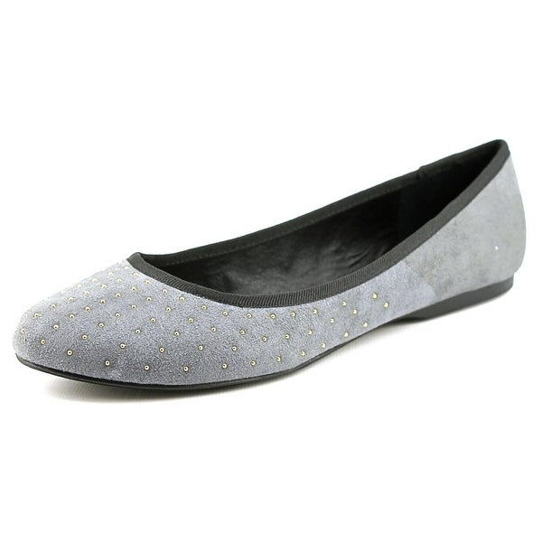 Wild Pair Morton Women  Round Toe Synthetic Gray Flats