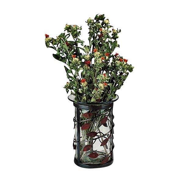 Shop Vases Black Wrought Ironglass Large Vase 95h X 7d Free