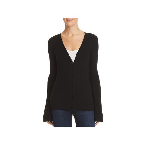 Theory Womens Cardigan Sweater Cashmere V-Neck - Black