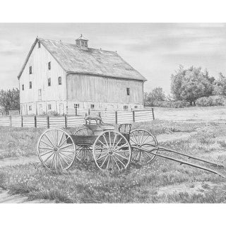 """Sketching Made Easy Kit 9""""X12""""-Country Wagon - country wagon"""