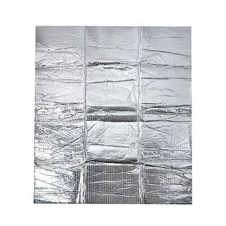Unique Bargains Heat Insulation Shield Mat Protector Silver Tone 120x100cm for Car Engine