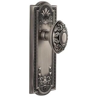 "Grandeur PARGVC_PRV_234  Parthenon Solid Brass Rose Privacy Door Knob Set with Grande Victorian Knob and 2-3/4"" Backset"