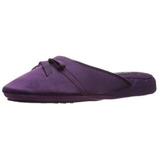Carole Hochman Womens Satin Casual Slide Slippers - 8-9