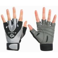 Bionic Women's StableGrip Half Finger Fitness Gloves - Gray/Black