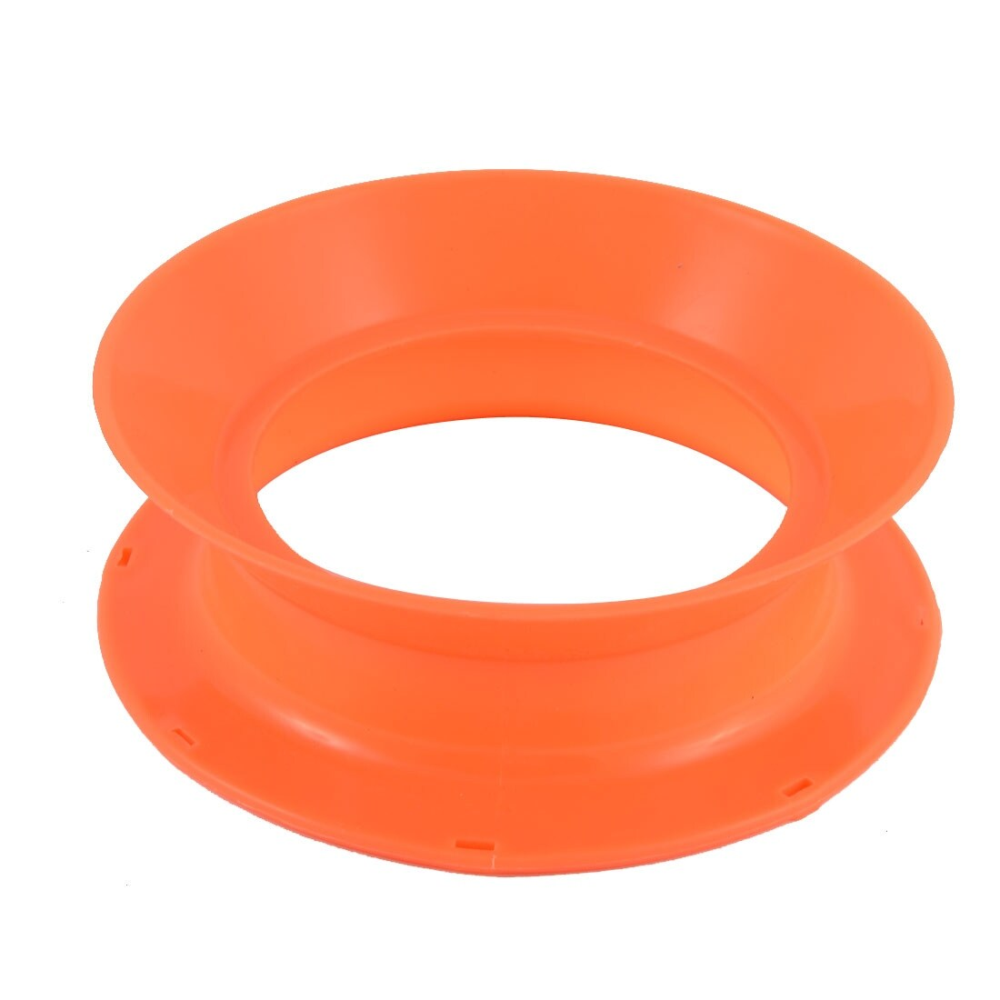 Plastic Fish Line Wire Bearing Fishing Spinning Reel Wheel 6 Inch Dia Orange
