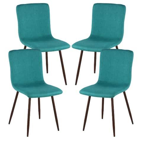 Edgemod Wadsworth Dining Chair with Walnut Legs (Set of 4)