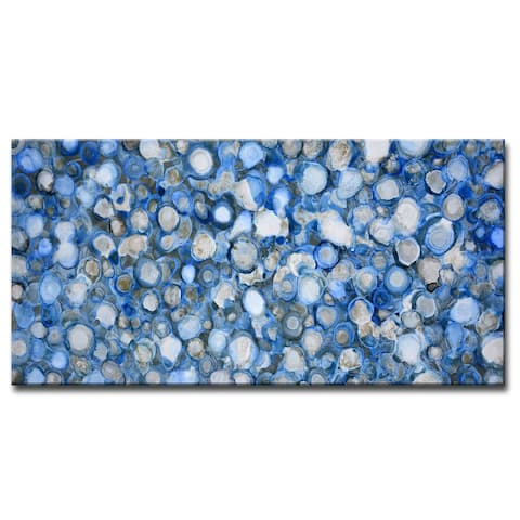 'Arctic River Stones' Wrapped Canvas Wall Art by Norman Wyatt Jr.