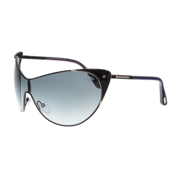 Tom Ford FT0364 01B VANDA Black Cateye Sunglasses