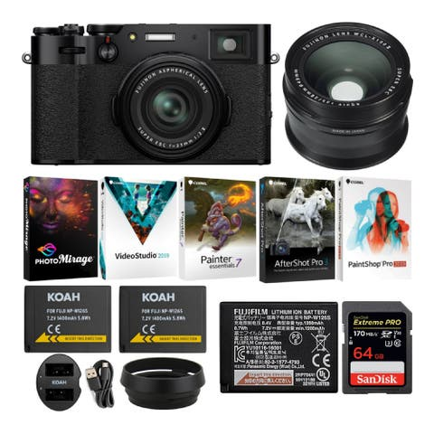 Fujifilm X100V Compact Digital Camera with Wide Lens Essential Bundle