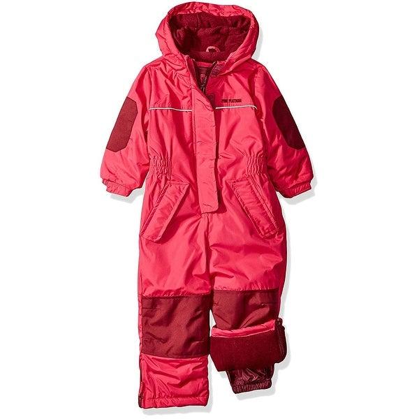 94c3e186ab95 Shop Pink Platinum Girls 12-24 Months Snowmobile Snowsuit - Free ...