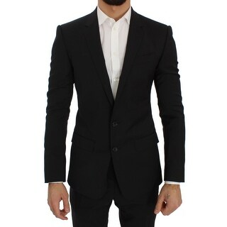 Dolce & Gabbana Black Wool Stretch Slim Blazer Jacket - it44-xs