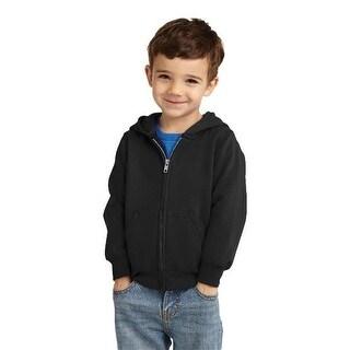 CAR78TZH Toddler Full Zip Hooded Sweatshirt, Jet Black - 2