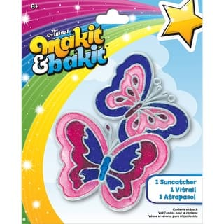 Makit & Bakit Suncatcher Kit-Butterflies|https://ak1.ostkcdn.com/images/products/is/images/direct/54f461078009ce93936fb02098e2251bf2ae5b7a/Makit-%26-Bakit-Suncatcher-Kit-Butterflies.jpg?impolicy=medium