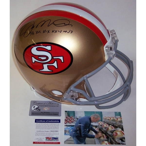 9994a3cf4 Shop Joe Montana Autographed Hand Signed San Francisco 49ers Throwback  Authentic Helmet - PSA DNA - Free Shipping Today - Overstock - 13074483