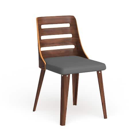 Carson Carrington Skara Walnut Wood Mid-century Dining Chair