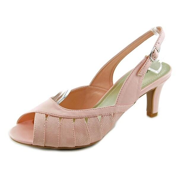 Easy Street Mimi Women N/S Peep-Toe Synthetic Slingback Heel