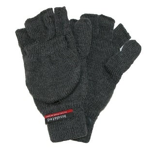 CTM® Men's Knit Flip Top Thinsulate Lined Gloves - One Size