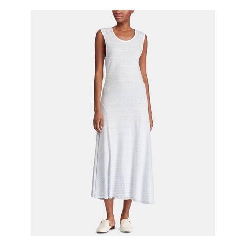 RALPH LAUREN White Sleeveless Maxi A-Line Dress Size XS