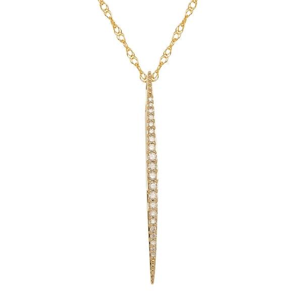1/5 ct Diamond Stick Drop Pendant in 14K Gold