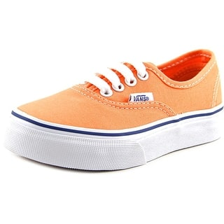 Vans Authentic Youth Round Toe Canvas Orange Sneakers https://ak1.ostkcdn.com/images/products/is/images/direct/54f7c5d7e784a0a07257d932fdaa406f44a447ec/Vans-Authentic-Youth-Round-Toe-Canvas-Orange-Sneakers.jpg?impolicy=medium