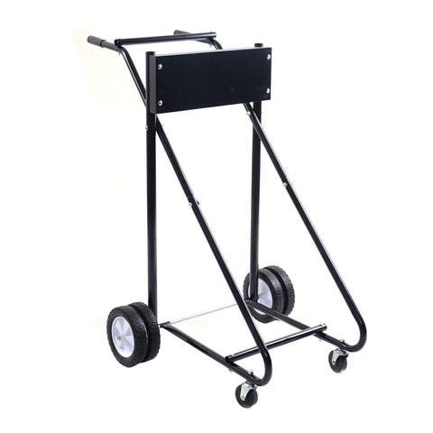 Costway 315 LBS Outboard Boat Motor Stand Carrier Cart Dolly Storage Pro Heavy Duty