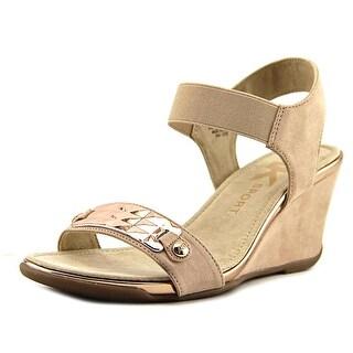 Anne Klein Sport Latasha   Open Toe Canvas  Wedge Sandal
