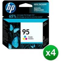HP 95 Tri-color Original Ink Cartridge (C8766WN) (4-Pack)