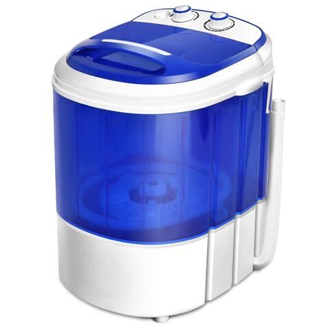 Costway Small Mini Portable Compact Washer Washing Machine 7lbs Capacity Blue