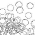 Silver Plated Open Jump Rings 5mm 20 Gauge (x100) - Thumbnail 0