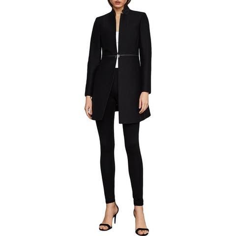 BCBG Max Azria Arelia Women's Lightweight Cotton Long Tuxedo Blazer Jacket