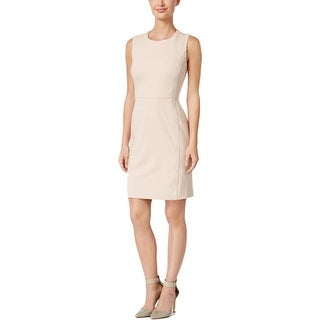 Calvin Klein Womens Wear to Work Dress Suede Panels Sleeveless