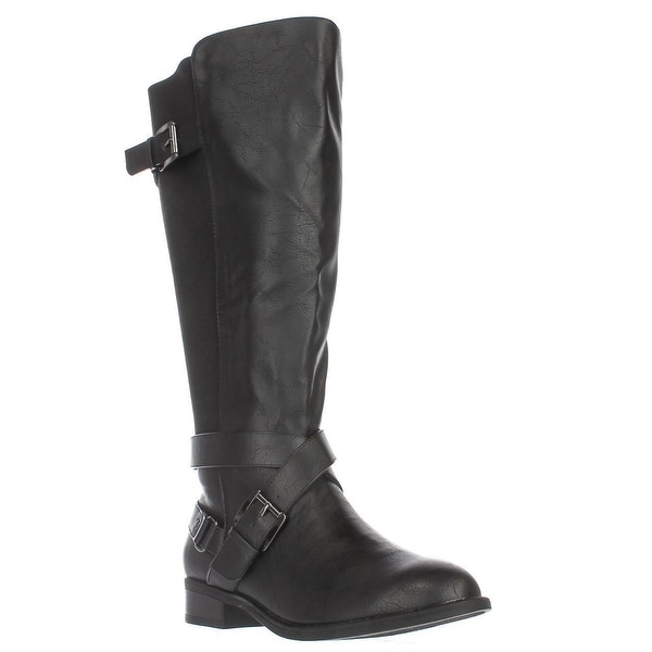 TS35 Vada Stretch Knee High Harness Boots, Black