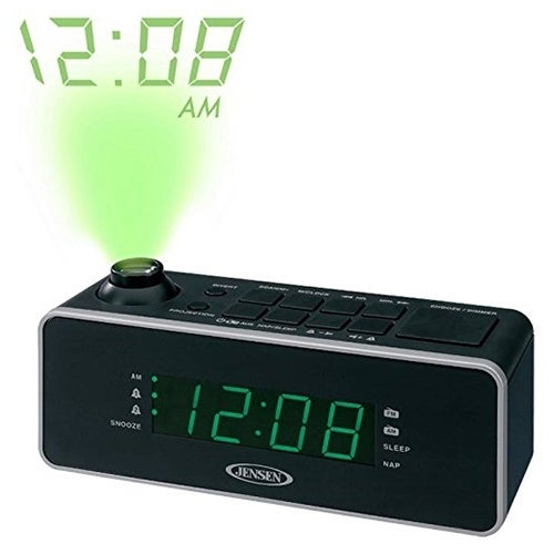 JENSEN JENJCR235B Dual Alarm Projection Clock Radio