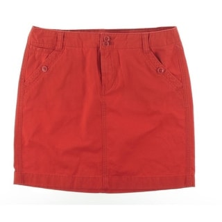 Tommy Hilfiger Womens Twill Knee-Length Straight Skirt