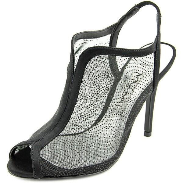Nina Mei Peep-Toe Synthetic Heels