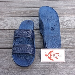 Pali Hawaii Jandals NAVY with Certificate of Authenticity (Option: 13)