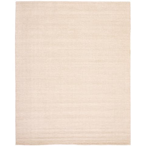 ECARPETGALLERY Hand Loomed Gabbeh Luribaft Cream Wool Rug - 10'3 x 13'0