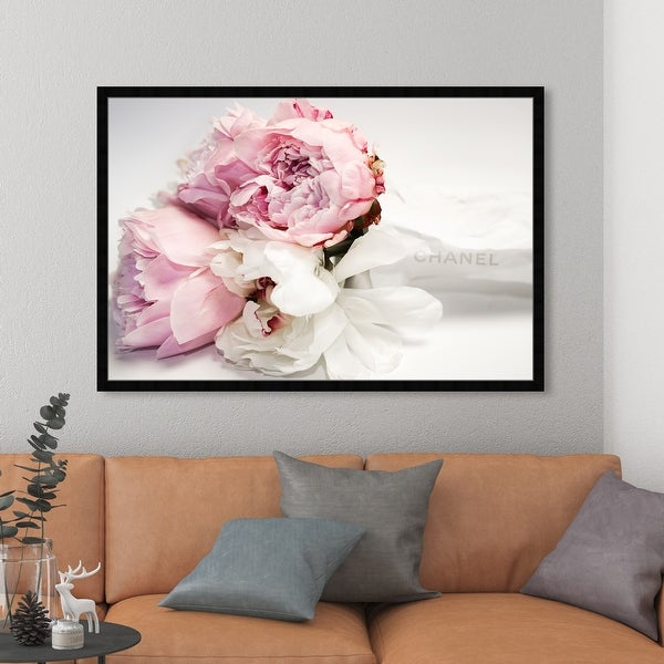 Oliver Gal 'Peonies and Magnolia Love' Fashion and Glam Framed Wall Art Prints Lifestyle - Pink, White. Opens flyout.