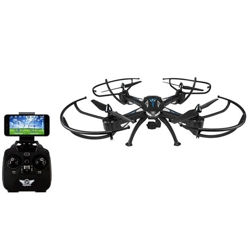 SkyRider Quadcopter Drone w/Wi-Fi Camera Quadcopter Drone with Wi-Fi Camera
